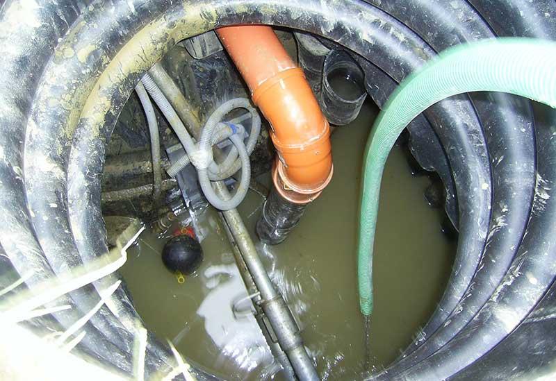Dichtheitsprüfung am Abwasserkanal